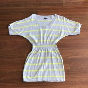 Beautiful tunic dress gray and yellow stripes